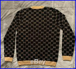 GUCCI GG cotton lamé cardigan Size M