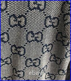 GUCCI Sweater Cardigan Wool Cotton GG Logo size M