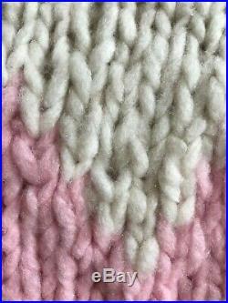 Gabriela Hearst $1790 Nwt Thick Fuzzy Tri Color Cashmere Sweater Soft! Medium M