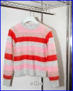 Ganni Cordelia Striped Mohair & Wool Sweater Size M
