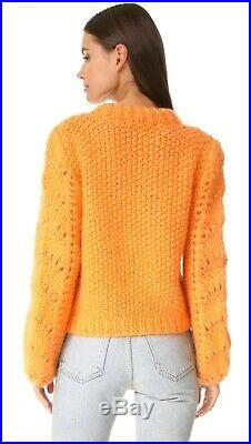Ganni Faucher Sweater in Russet Orange Size M