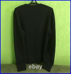 Gucci Sweatshirt Classic Hoody Jersey Sweater Vintage Logo Cotton Black Size M