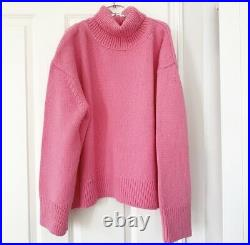 ICONIC CELINE PINK CASHMERE JUMPER KNIT SWEATER (M) NWT, Phoebe Philo 2018