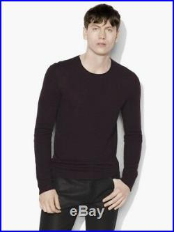JOHN VARVATOS MAINLINE Merlot Burgundy 100% Cashmere Sweater Jumper RRP £375.00