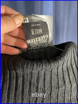 Jean Paul Gaultier RARE AND UNIQUE soft thin wool knit colorful sweater top S M