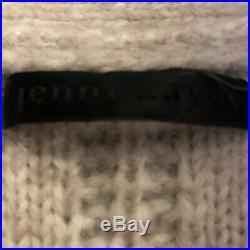 Jenni Kayne Alpaca Wool Sweater Cardigan Medium Oatmeal