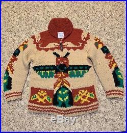 Kanata Sweater Hand Knit Cowichan Unisex 100% Super Fine Merino 19 Micron