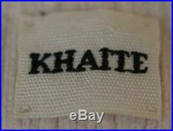 Khaite Gloria V-neck Ribbed Knit Sweater Medium