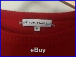 LINGUA FRANCA'i wont back down' Cashmere Sweater in Red Size M Pre-owned