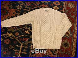 LL Bean Irish Fisherman Sweater