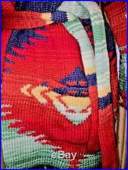 Lauren Ralph Lauren Country Hand Knit Southwestern Aztec Wool Sweater