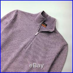 Loro Piana Men ROADSTER Pull CASHMERE Knit Sweater Pullover Jumper Size IT46 S
