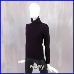 Loro Piana Women CASHMERE Roll Neck Knit Jumper Sweater Pullover Size 38 XS US 2