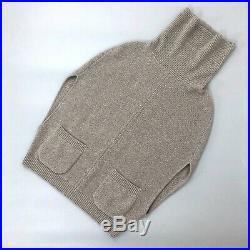 Loro Piana Women Grey CASHMERE Cable Knit Sleeveless Cardigan Sweater Size S 40