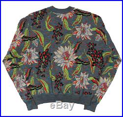 Louis Vuitton Multi Color Logo Crewneck Sweater Oversized Size M Made in Italy