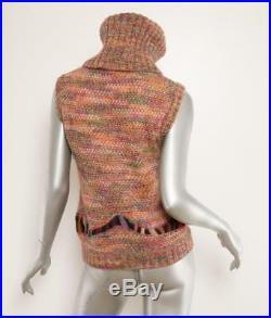 MISSONI COLLECTIBLE 2002 Multi-Color Sleeveless Turtleneck Sweater Vest M 12/150