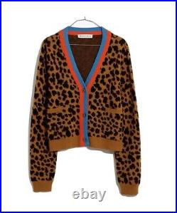 Madewell x KULE Leopard Cardigan Sz M. BNWT
