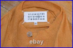 Maison Margiela Mens Dark Orange Mock Neck Linen Wool Sweater Medium