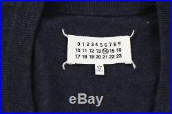 Maison Martin Margiela Mens Navy Blue Wool Cardigan Sweater M Medium $640