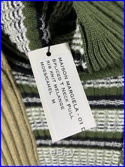 Maison martin margiela Sweater Green Stripes Medium Made In Italy