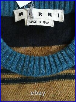 Marni Mens Sweater Size 48 Medium Wool/mohair Multi