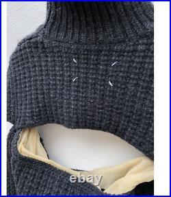 Martin Margiela FW 2006 Deconstructed Two Pieces Heavy Sweater Split Rollneck