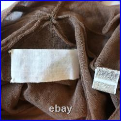 Martin Margiela Sheer Cardigan Brown Size Medium V-Neck Sweater