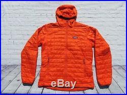 Men PATAGONIA Orange Nano Puff Primaloft Hooded Hoody Sweater Jacket Medium $249