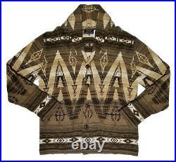 Men's Polo Ralph Lauren Southwest Shawl Collar Knit Cardigan Sweater M Medium