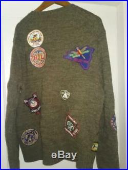 Men, s Rare Polo Ralph Lauren Great Outdoors Hiking Bear Sweater Size M