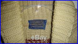 Mens M Vintage Pendleton Full Zip Wool Cowichan Sweater Jacket Big Lebowski USA