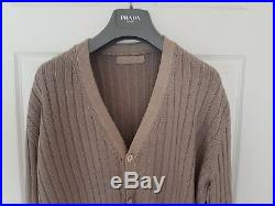 Mens PRADA lambswool cardigan/jumper/Sweater. Size EU54/UK44 large/XL RRP £595
