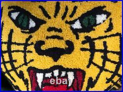 Mens Polo Ralph Lauren Green Varsity Tiger Crewneck Pullover Sweater Medium NEW