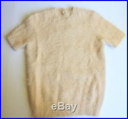Michael Kors 80% Angora Short Sleeve Sweater Nude Women's Medium (M)