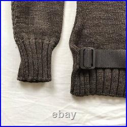 Miu Miu By Prada AW1999 Rare Belted Utility Turtleneck Knit Sweater Wool