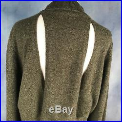 NEW Dion Lee Cashmere Split Back Sweater in Army Green US 4 6 AU/UK 8 10