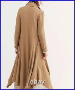 NEW Free People Bonanza Duster Sweater Coat Size Medium Fit-n-Flare