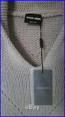 NEW! Giorgio Armani 100% CASHMERE Sweater Shawl Collar IT48 Thick Medium / Large