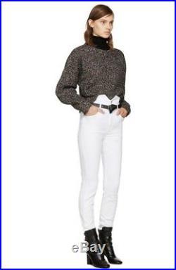 NEW Isabel Marant Etoile Grey Marked Herwitt Cropped Jumper Sweater Size Medium