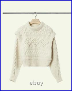 NEW Isabel Marant Milane Sweater Runway Ivory Top Heavyweight Size FR40 M
