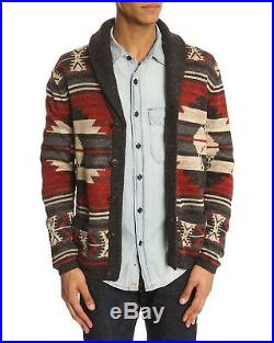 NEW! NWT Polo Ralph Lauren Southwest Cardigan Sweater Navajo Medium RRL Aztec