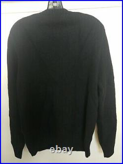 NEW Ralph Lauren Polo Ski Bear RLX Knit Sweater size Medium Black Wool Winter M