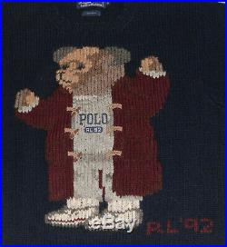 NWOT Polo Ralph Lauren 92 Athletic Grandpa Bear Sweater M