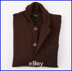 NWT $3250 KITON'Regal Cashmere' Blazer-Style Cardigan Sweater M (Eu 50)