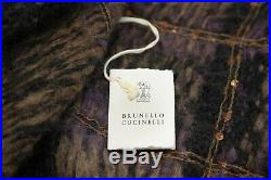 NWT$3645 Brunello Cucinelli Womens Cashmere-Mohair Sequin Shawl Cardigan M A191