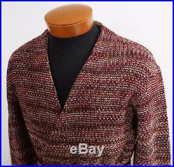 NWT Authentic MISSONI ORANGE LABEL WOOL Blend WRAP Cardigan Sweater IT-48 M