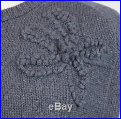 NWT BRUNELLO CUCINELLI Blue Cashmere Floral Knit Sweater Vest Size M $2225
