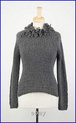 NWT BRUNELLO CUCINELLI Gray Cashmere Blend Knit Turtleneck Sweater Size M $2800