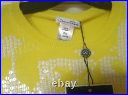 NWT Blue Label Oscar de la Renta Women's Size M Knit Sequin Top MSRP $1590.00