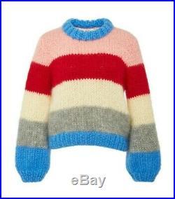 NWT Ganni Julliard Sweater mohair wool striped Size M